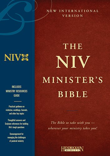 9781565636460: Holy Bible: New International Version Minister Burgundy Genuine Leather