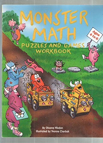 9781565658455: Monster Math Puzzles and Games Workbook