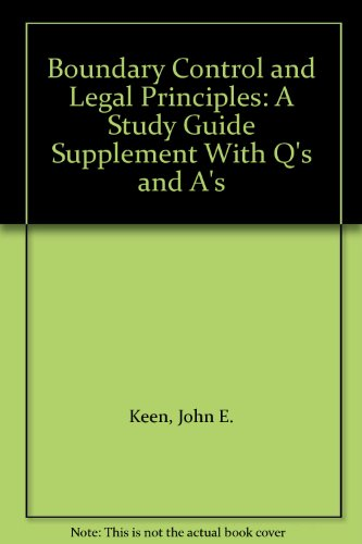 9781565690530: Boundary Control and Legal Principles: A Study Guide Supplement With Q's and A's