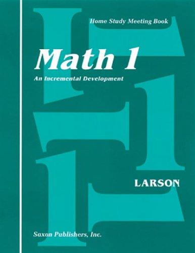 9781565770188: Saxon Math 1 Homeschool: Complete Kit 1st Edition