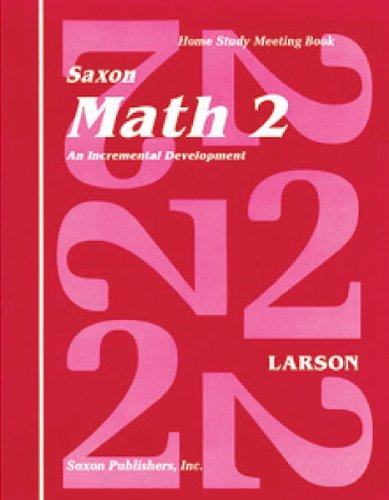 9781565770195: Saxon Math 2 Home Study Kit First Edition (Homeschool Math Grade 2)