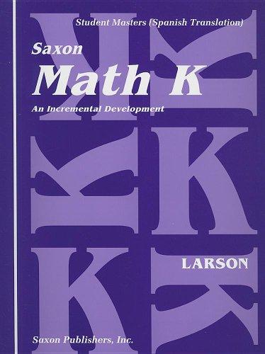 9781565770478: Matematica K: Desarollo Incremental: Patrones Opcionales de Caligrafia de los Numeros with Paperback Book(s)