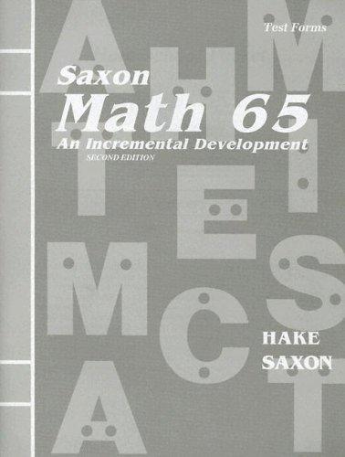 9781565770706: Math 65: An Incremental Development (Test Forms booklet)