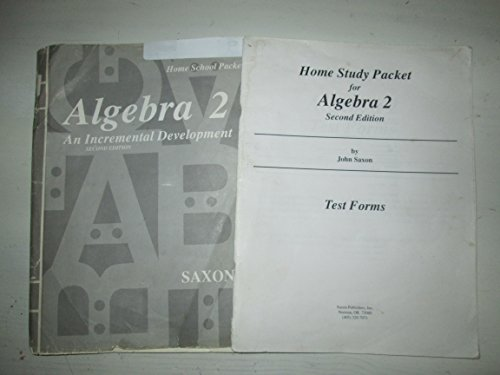 9781565770805: Saxon Math Algebra 2 (Second Edition): Homeschool Packet Test Forms