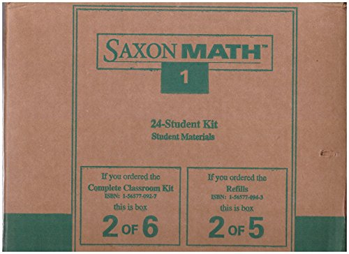 9781565770942: Saxon Math 1: 24 Student Refill
