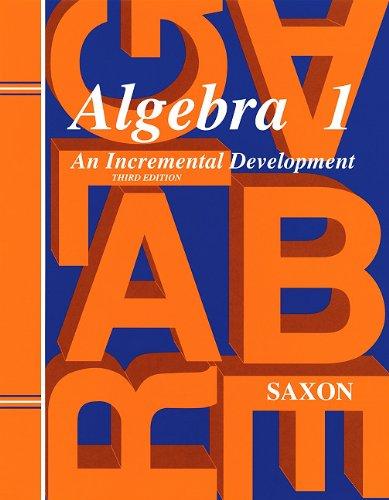 9781565771376: Saxon Algebra 1 Solutions Manual