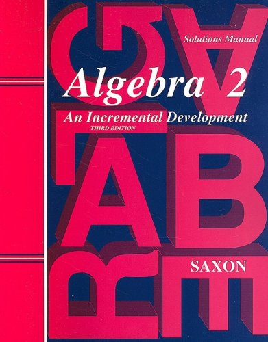 9781565771437: Saxon Algebra 2: Solutions Manual