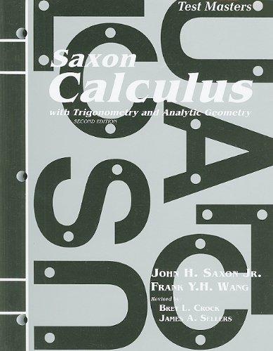 9781565771475: Saxon Calculus: Test Master