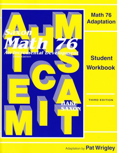 9781565772991: Saxon Math 7/6 Special Populations: Workbook Master Adaptations