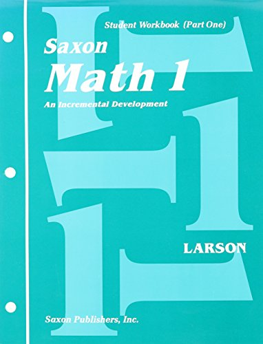 9781565774483: Saxon Math 1, student workbook part 1