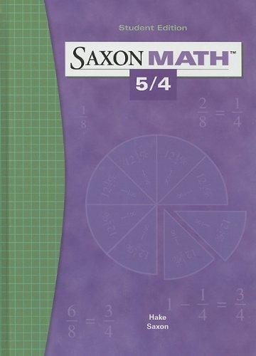 9781565775039: Saxon Math 5/4