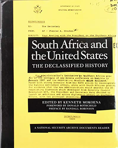 9781565840812: South Africa and the United States (National Security Archive Documents Readers)