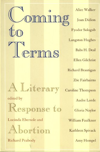 9781565841888: Coming to Terms: A Literary Response to Abortion