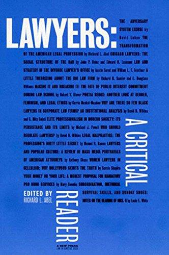 9781565843240: Lawyers: A Critical Reader