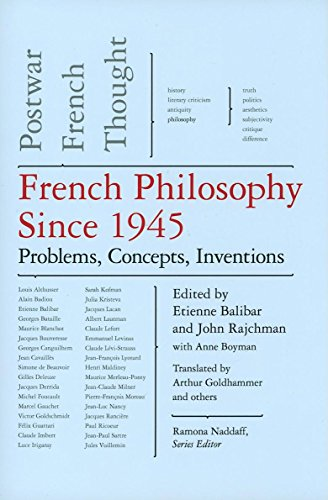 FRENCH PHILOSOPHY SINCE 1945: PROBLEMS, CONCEPTS, INVENTIONS: BALIBAR, Etienne, John