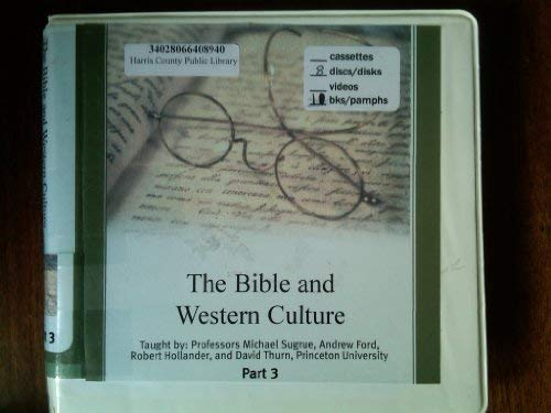 9781565853621: The Bible and Western Culture Part 3 (The Great Courses: Literature & English Language)