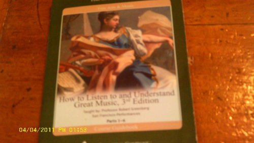 9781565856165: How to Listen to and Understand Great Music (The High Baroque, 2 of 6)