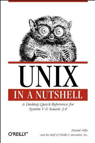 9781565920019: UNIX in a Nutshell: System V Edition: System V, Release 4 (Nutshell Handbooks)