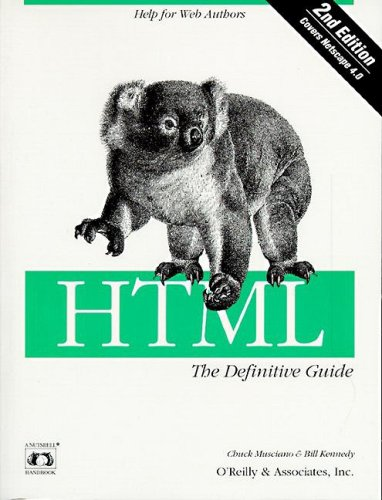 9781565922358: HTML:  The Definitive Guide (A nutshell handbook)