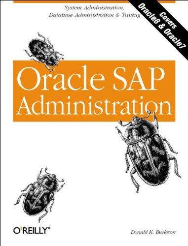9781565926967: Oracle SAP Administration (Classique Us)