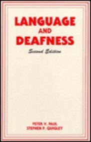 9781565931084: Language and Deafness