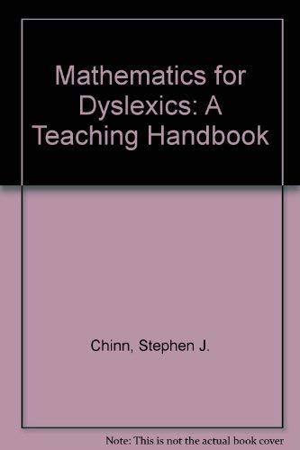 9781565932500: Mathematics for Dyslexics: A Teaching Handbook