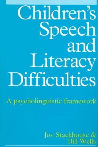 9781565937956: Children's Speech and Literacy Difficulties: A Psycholinguistic Framework