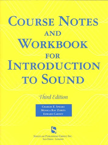 9781565939806: Course Notes and Workshop for Introduction to Sound