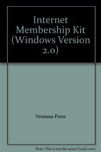 9781566042123: Internet Membership Kit (Windows Version 2.0)