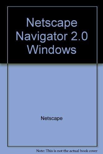 9781566043977: Netscape Navigator 2.0 Windows: Personal Edition