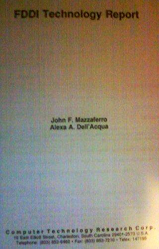 Fddi Vs. Atm: High-Speed Networks (Information Technology: John F. Mazzaferro,