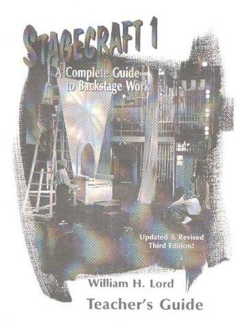 9781566080668: Stagecraft 1 Teacher's Guide