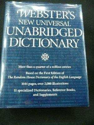 Webster`s new universal unabridged Dictionary