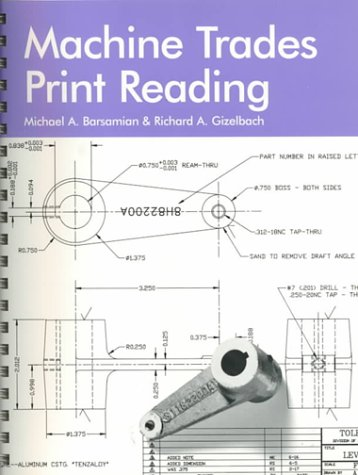 9781566372695: Machine Trades Print Reading