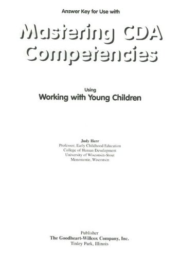 9781566378307: Mastering CDA Competencies Answer Key