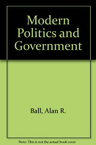 9781566430029: Modern Politics and Government (Comparative Politics & the International Political Economy,)