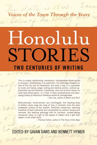 Honolulu Stories (156647843X) by Gavan Daws; Bennett Hymer