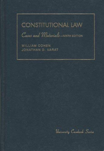 9781566620581: Constitutional Law: Cases and Materials (University Casebook)