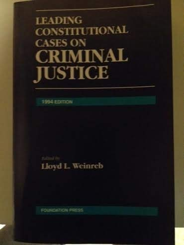9781566621885: Leading Constitutional Cases on Criminal Justice: 1994