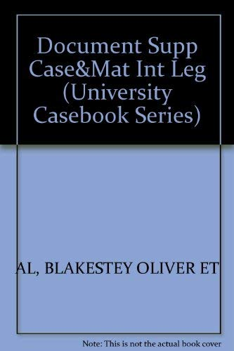 9781566622318: Documentary Supplement to Cases and Materials on the International Legal System (University Casebook Series)