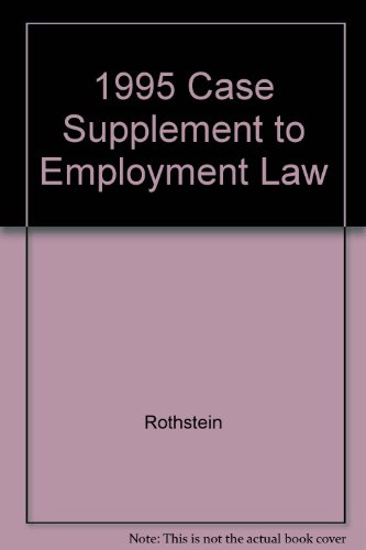 9781566623094: 1995 Case Supplement to Employment Law