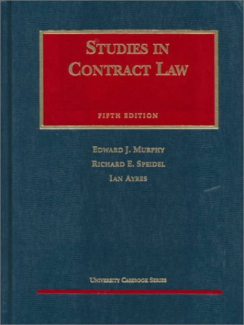 9781566624688: Studies in Contract Law, Fifth Edition (AK-Sg)