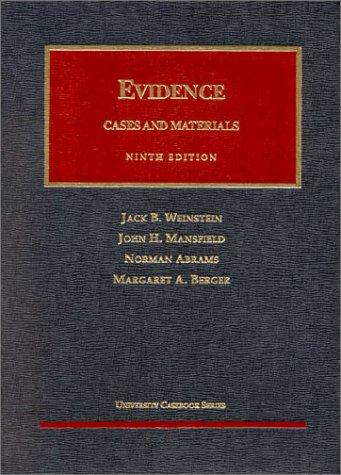 9781566624749: Evidence (University Casebook Series)