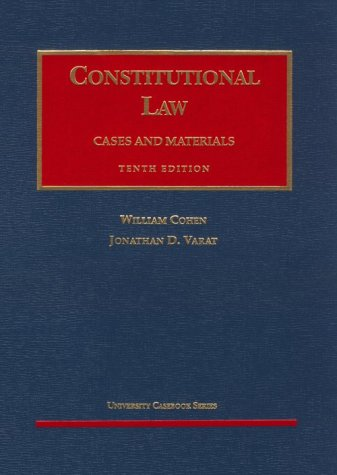 9781566625296: Constitutional Law: Cases and Materials (AK-Sg)
