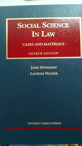 9781566625784: Social Science in Law: Cases and Materials (University Casebook Series)