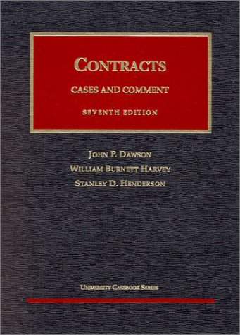 Contracts, 1998 : Cases and Comment on: William Burnett; Stanley