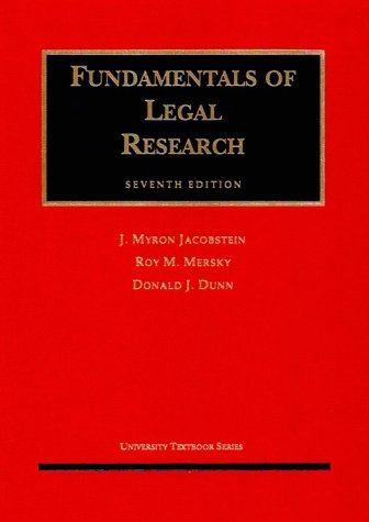 9781566626132: Fundamentals of Legal Research (University Textbooks)