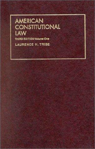 9781566627146: 1: American Constitutional Law (University Treatise Series)