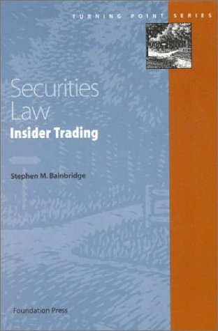9781566627375: Securities Law: Insider Trading (Turning Point Series)