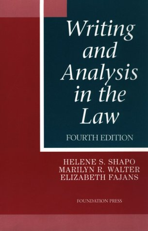 9781566627801: Writing and Analysis in the Law (University Casebook Series)